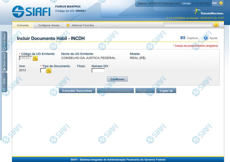 Incluir Documento Hábil - INCDH