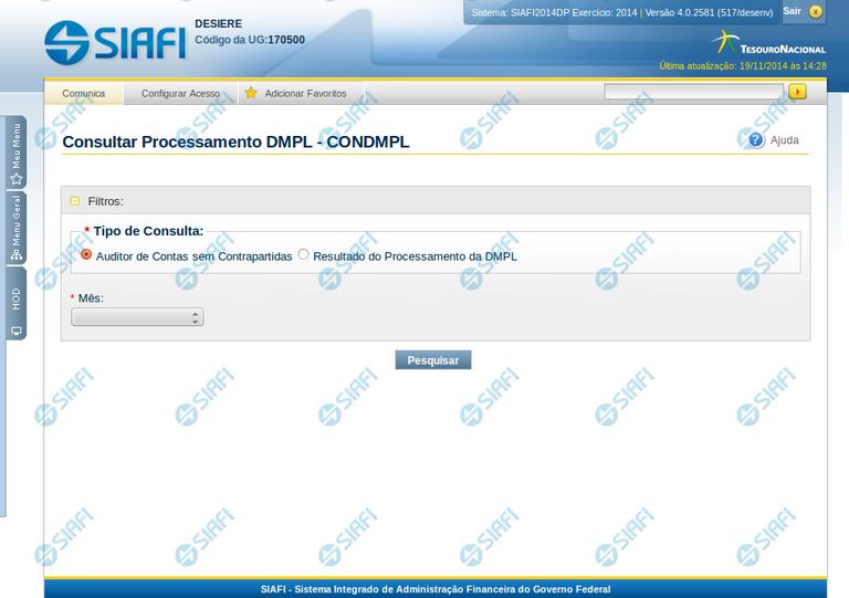 Consultar Processamento DMPL - CONDMPL