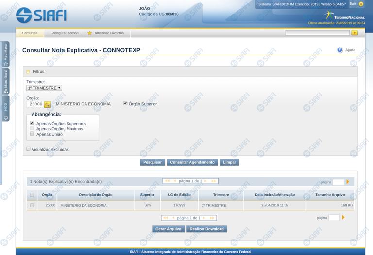 Consultar Nota Explicativa - CONNOTEXP