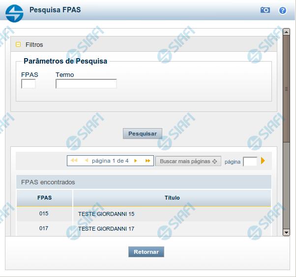 Pesquisa FPAS